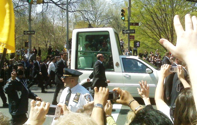 pope in NYC