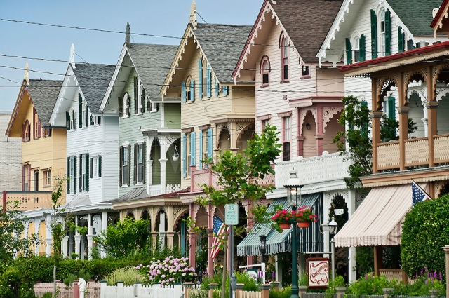 Row of Victorian homes, Cape May, NJ