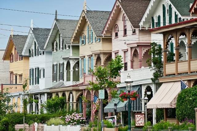 Row of Victorian homes, Cape May, NJ