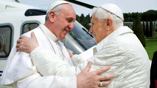 pope francis & pope benedict